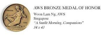 American Watercolor Society 147th AWS Bronze Medal of Honor
