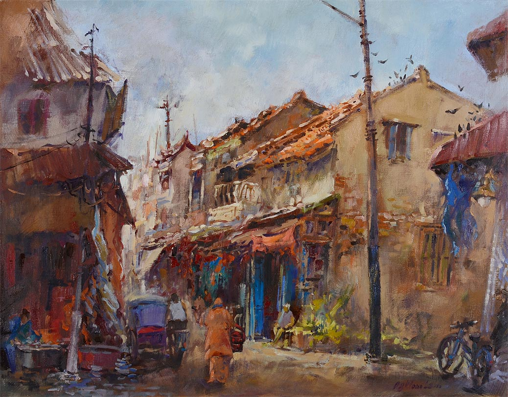 Singapore Oil Painting Ng Woon Lam nws aws mfa