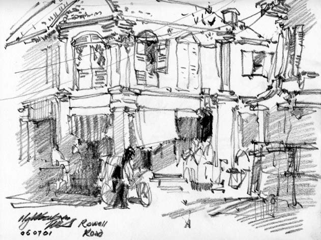 ng Woon Lam Singapore Artist Cityscape Sketches